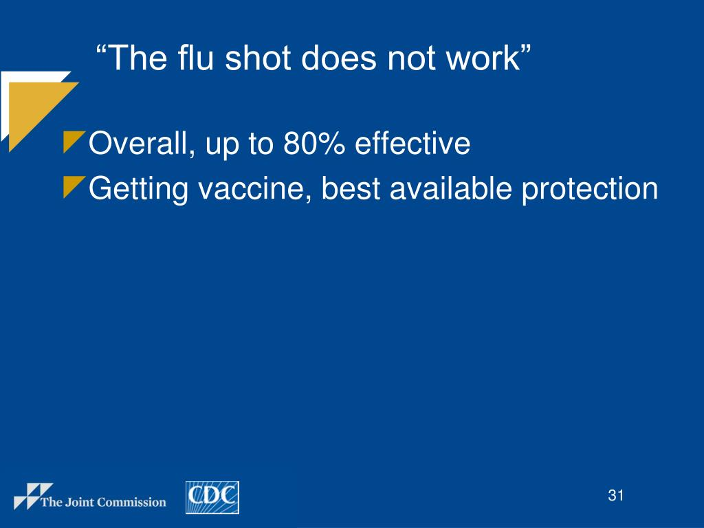 """""""The flu shot does not work"""""""