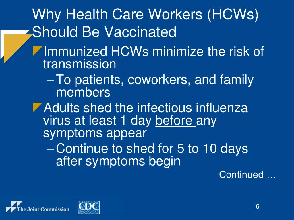 Why Health Care Workers (HCWs) Should Be Vaccinated