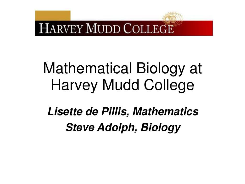 lisette de pillis mathematics steve adolph biology l.