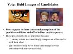 voter held images of candidates