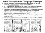 voter perceptions of campaign messages