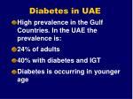 diabetes in uae