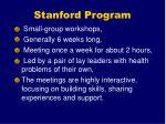 stanford program