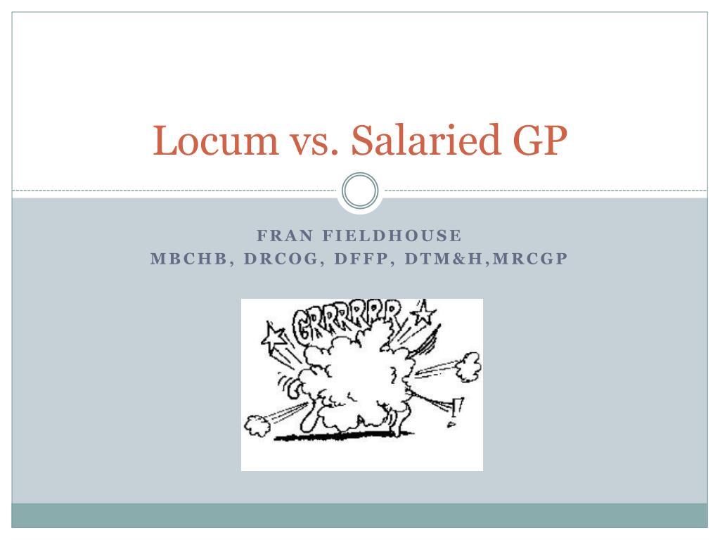 locum vs salaried gp l.