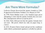 are there more formulas