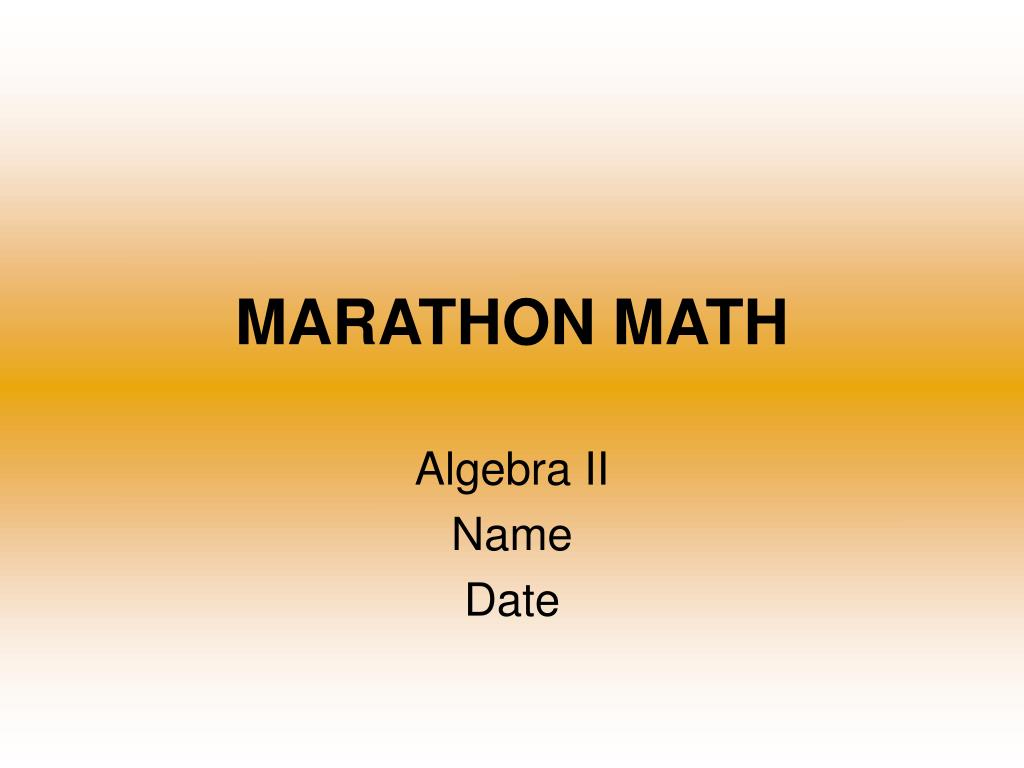 marathon math l.