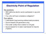 electricity point of regulation