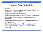 natural gas schedule