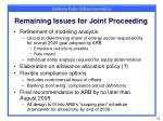 remaining issues for joint proceeding