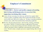 employer s commitment
