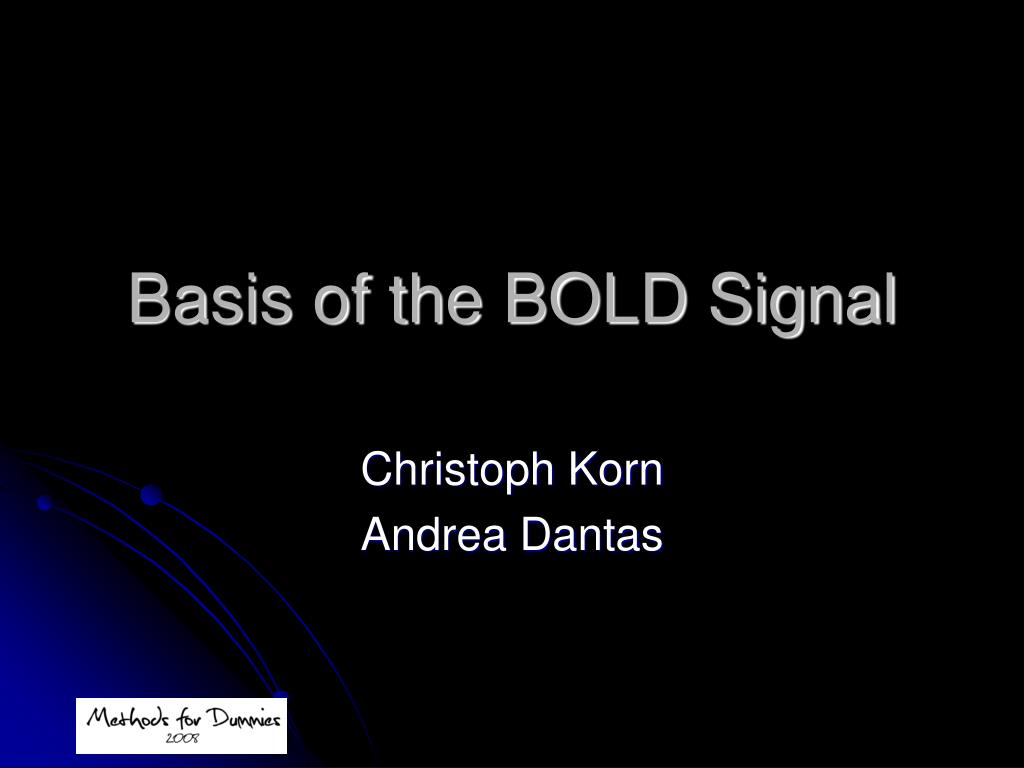 basis of the bold signal l.