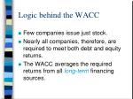 logic behind the wacc