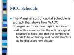 mcc schedule