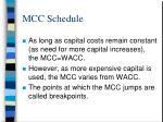 mcc schedule24