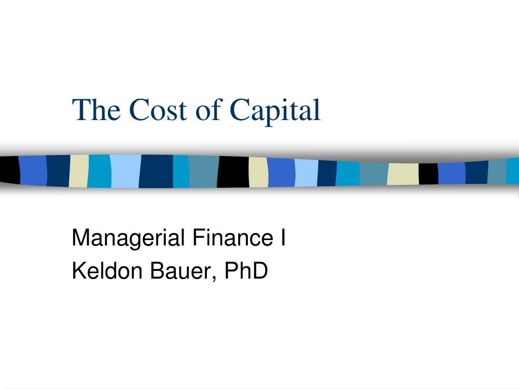 the cost of capital l.