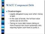 wacc component debt7