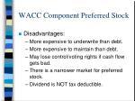 wacc component preferred stock15