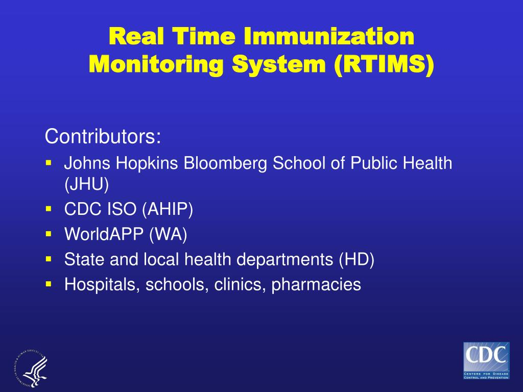 Real Time Immunization Monitoring System (RTIMS)