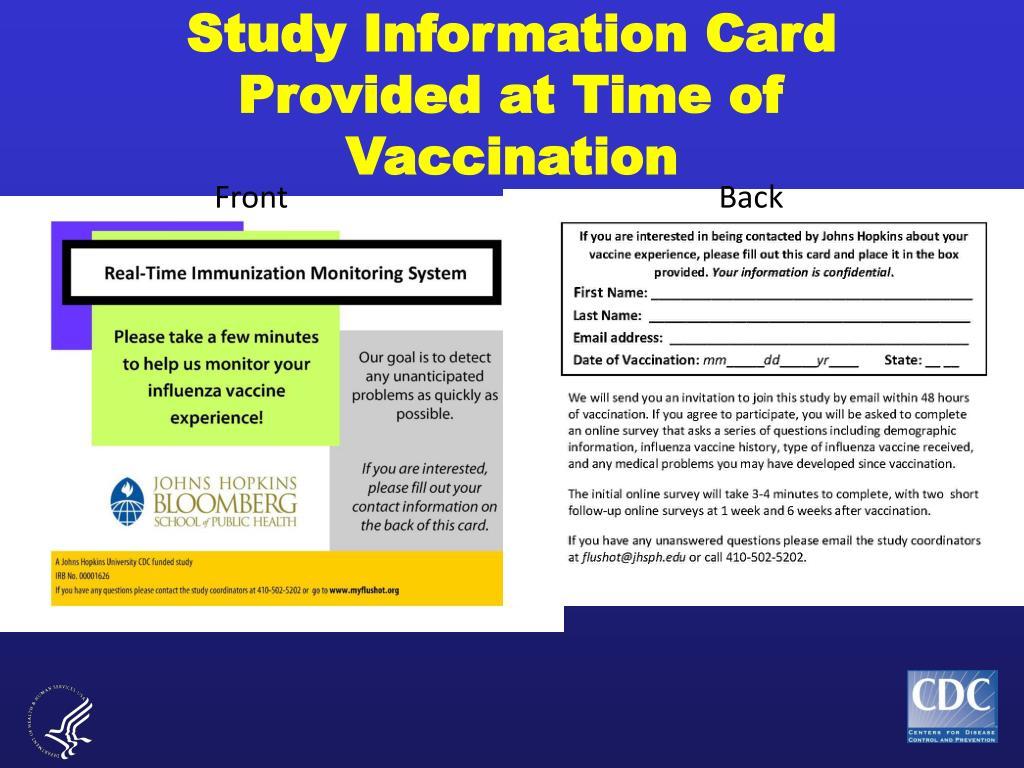 Study Information Card