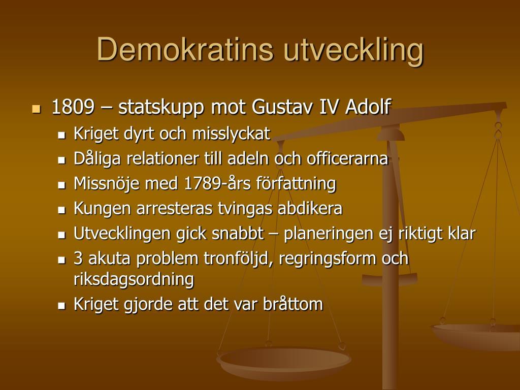 demokratins utveckling l.