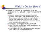 walk in center teens