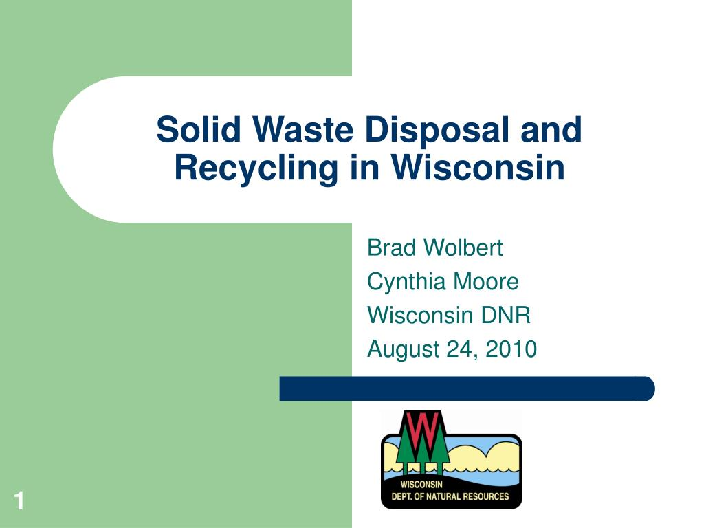 solid waste disposal and recycling in wisconsin l.