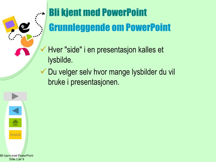 Bli kjent med powerpoint grunnleggende om p owerpoint
