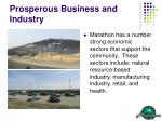 prosperous business and industry