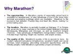 why marathon