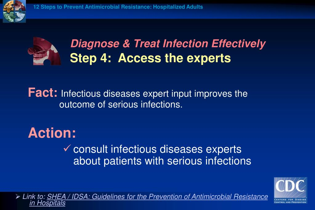 12 Steps to Prevent Antimicrobial Resistance: Hospitalized Adults