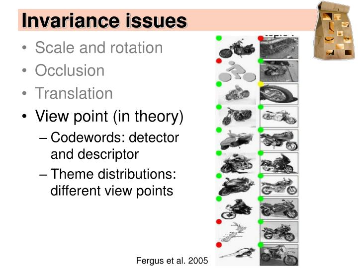 Invariance issues