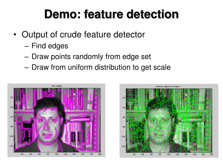 Demo: feature detection