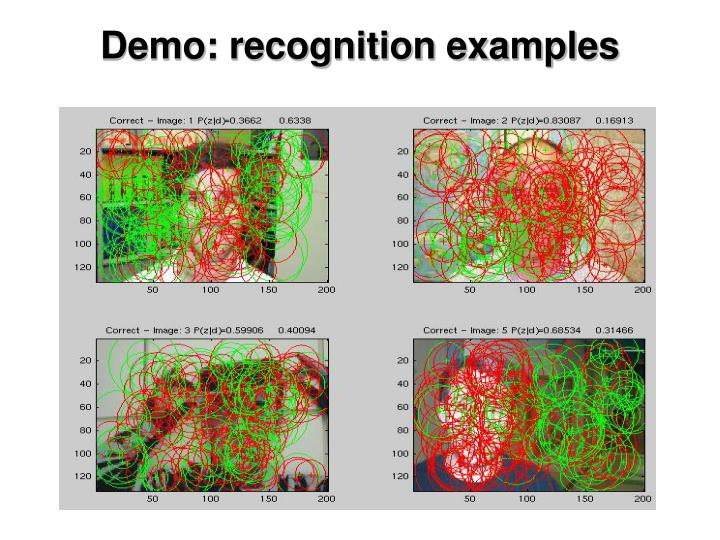 Demo: recognition examples