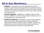 oil gas machinery