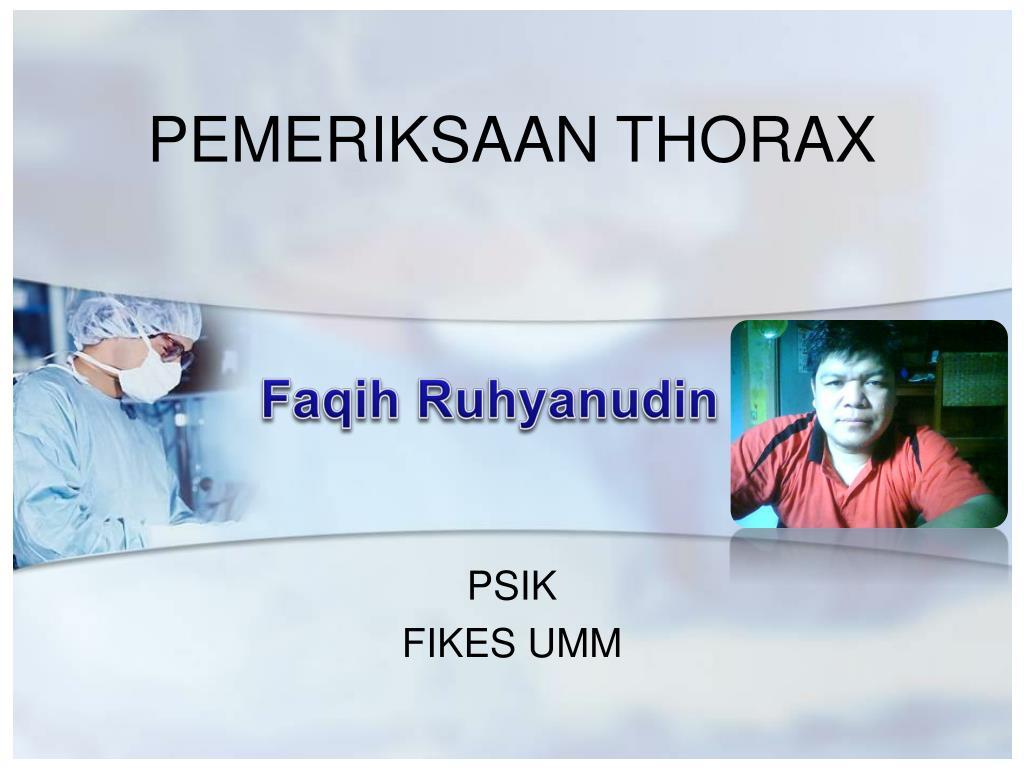 pemeriksaan thorax l.