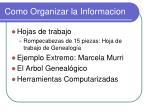como organizar la informacion