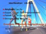 idea marathon life style