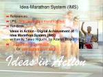 idea marathon system ims