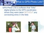 what is gps photo link
