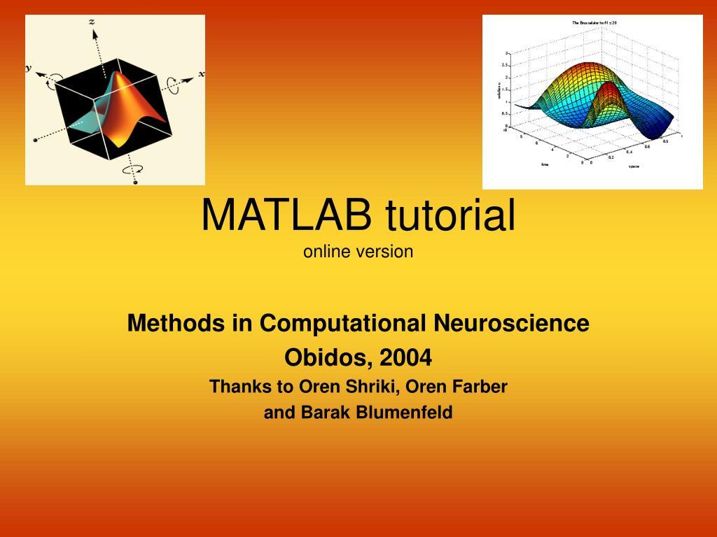 matlab tutorial online version l.
