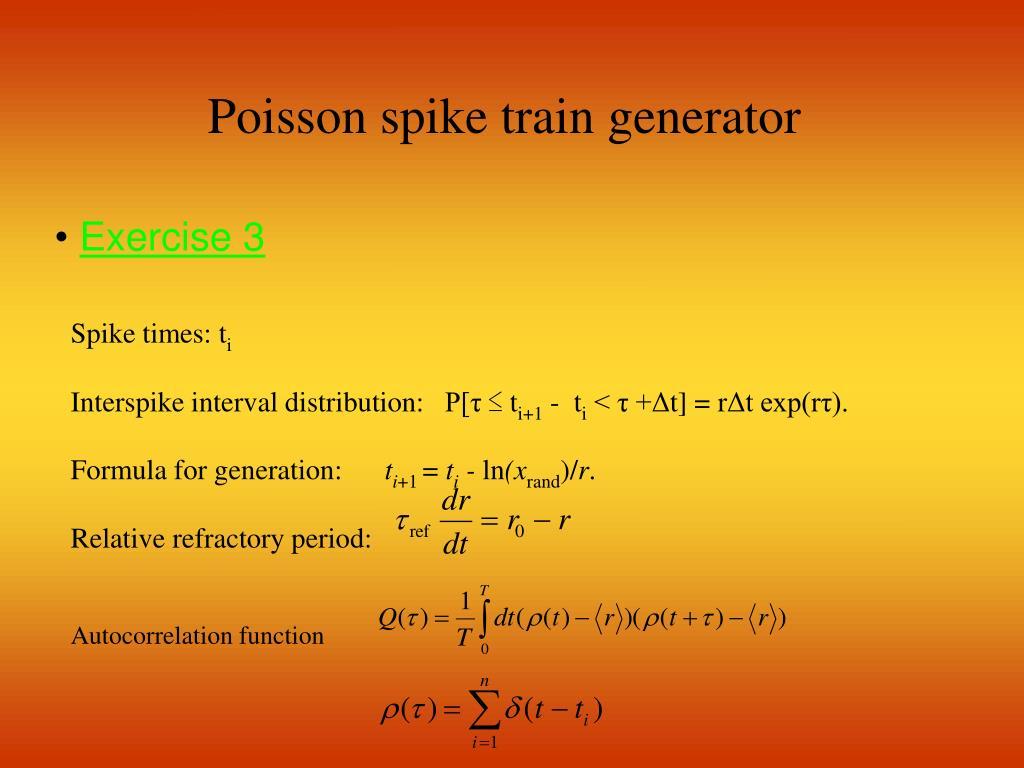 Poisson spike train generator