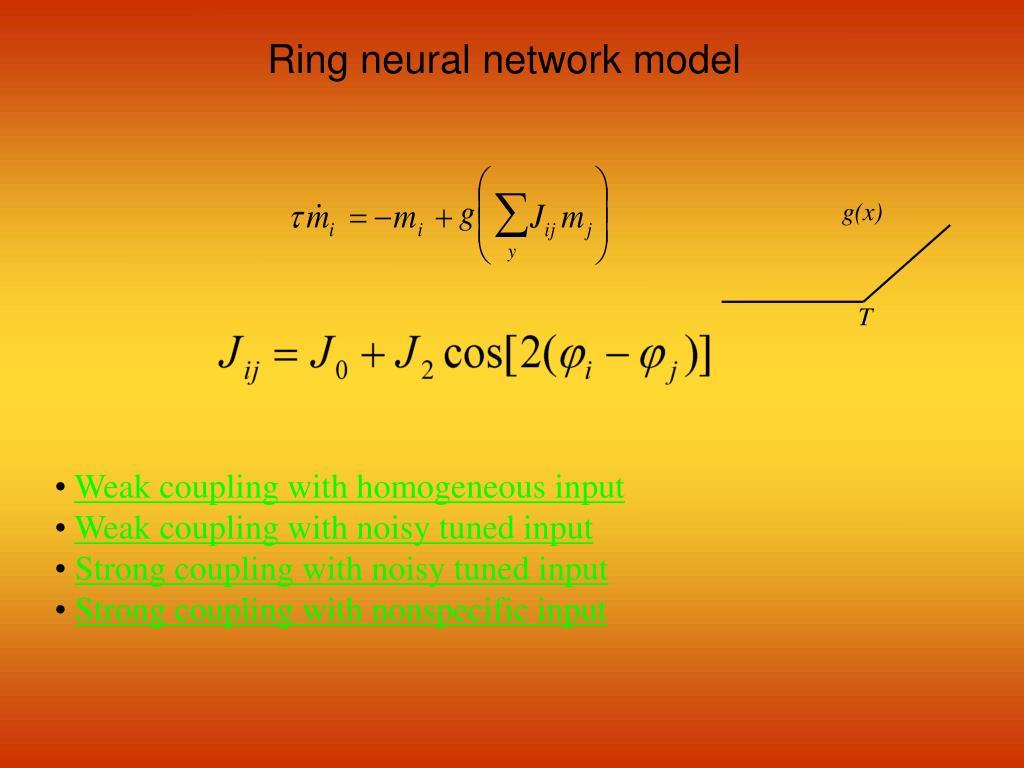 Ring neural network model