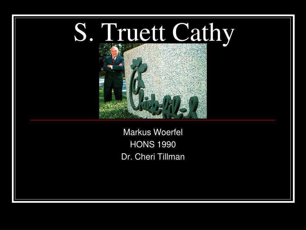 s truett cathy l.