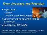 error accuracy and precision