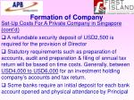 formation of company72