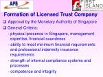 formation of licensed trust company69
