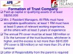 formation of trust company