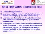group relief system specific exclusions