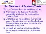 tax treatment of business trusts64