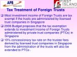 tax treatment of foreign trusts